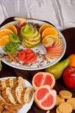 Frutta e torta dolci Fotografie Stock