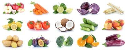 Frutta e vegetab delle patate delle arance delle mele della raccolta delle verdure Immagine Stock