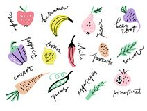 Frutta e Veggies illustrazione vettoriale
