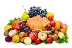 Frutta e verdura isolate su un fondo bianco Immagini Stock Libere da Diritti