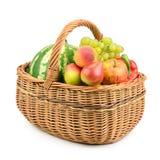 Frutta e verdure in cestino Immagine Stock Libera da Diritti