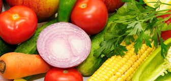Frutta e verdure dell'accumulazione Immagini Stock Libere da Diritti