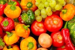 Frutta e verdure della raccolta immagini stock libere da diritti
