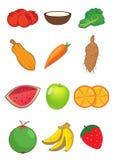 Frutta e verdure dentro   Fotografia Stock