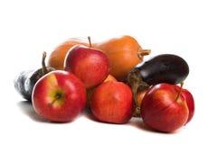 Frutta e verdure di autunno, isolate Immagini Stock