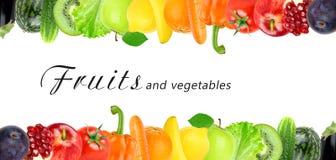 Frutta e verdure di colore Fotografie Stock Libere da Diritti