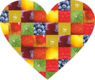 Frutta e verdure di colore Alimento fresco Concetto collage immagine stock libera da diritti