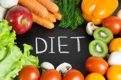 Frutta e verdure fresche sane Fotografia Stock