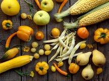 Frutta e verdure gialle Immagine Stock