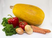 Frutta e verdure isolate su un bianco Fotografia Stock