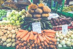 Frutta e verdure mercato del ` s dell'agricoltore San José, Costa Rica, tro Fotografia Stock