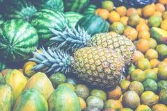 Frutta e verdure mercato del ` s dell'agricoltore San José, Costa Rica, tro Immagine Stock