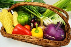 Frutta e verdure organiche sane Fotografie Stock Libere da Diritti
