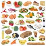 Frutta e verdure sane di cibo del fondo della raccolta dell'alimento Fotografia Stock Libera da Diritti
