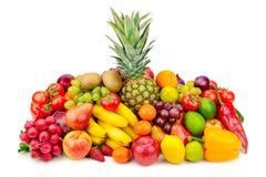 Frutta e verdure succose della raccolta fotografie stock libere da diritti