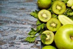 Frutta e verdure verdi Fotografie Stock Libere da Diritti