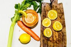 Frutta ed agrume con una vista superiore Immagini Stock Libere da Diritti