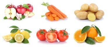 Frutta ed alimento di verdure i delle arance delle mele della raccolta delle verdure Immagini Stock Libere da Diritti