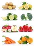 Frutta ed arance delle patate della mela della raccolta delle verdure Immagini Stock Libere da Diritti