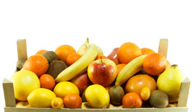 Frutta fresca in casse Fotografia Stock Libera da Diritti