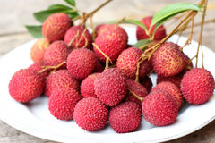 Frutta fresca del litchi Fotografie Stock