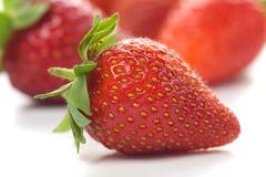 Frutta fresca della fragola Fotografia Stock