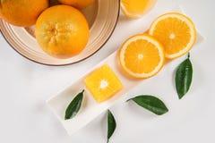 Frutta fresca delle arance succosa e dolce Immagini Stock Libere da Diritti