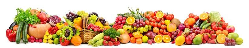 Frutta fresca e verdure dell'ampia raccolta utili per salute i fotografie stock