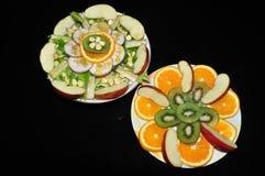 Frutta fresca ed insalata delle verdure Fotografie Stock