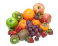 Frutta fresca succosa isolata su fondo bianco Immagini Stock Libere da Diritti