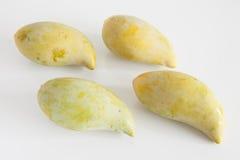 Frutta gialla del mango su fondo bianco Fotografie Stock Libere da Diritti