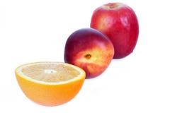 Frutta gialla e rossa Fotografia Stock
