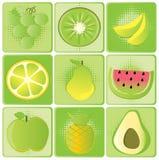 Frutta impostata Immagine Stock Libera da Diritti