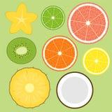 Frutta impostata Fotografie Stock