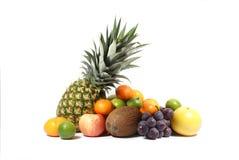 Frutta isolata su bianco Fotografia Stock Libera da Diritti