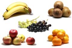 Frutta isolata su bianco Fotografie Stock Libere da Diritti