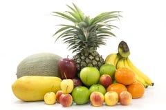Frutta isolata su bianco Immagine Stock Libera da Diritti