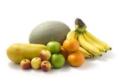 Frutta isolata su bianco Fotografia Stock