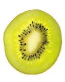 Frutta isolata su bianco, un kiwi Immagini Stock