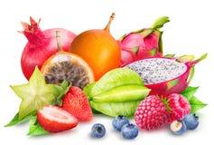 Frutta isolata su fondo bianco Immagine Stock Libera da Diritti