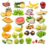 Frutta isolata su fondo bianco Fotografia Stock Libera da Diritti