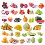 Frutta isolata su una priorità bassa bianca Immagini Stock