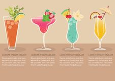 Frutta Juice Infographic illustrazione di stock