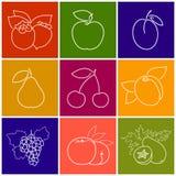 Frutta lineare Berry Icons Fotografia Stock Libera da Diritti