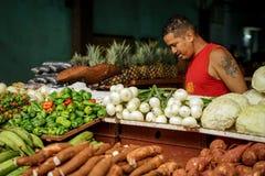 Frutta locale e verdura di vendite di esercenti Fotografie Stock Libere da Diritti