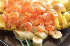 Frutta mandarino ed ananas Fotografia Stock