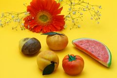 Frutta martorana (marzipan sweets from Sicily) Royalty Free Stock Photo