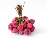 Frutta matura del litchi Fotografia Stock