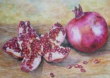 Frutta matura del melograno Fotografia Stock Libera da Diritti