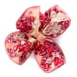 Frutta matura del melograno isolata su fondo bianco immagini stock libere da diritti